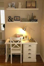 Office In Small Space Ideas Small Office White Ikea Shelves Paint Desk If I Were My Desk I