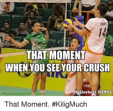 Volleyball Meme - ramos that moment when you see your crush volleyball memes