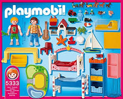 chambre d enfant playmobil chambre des enfants avec lits décorés sets divers 5333