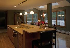 kitchen island with sink and raised eating area kitchen islands