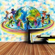 online buy wholesale dance wall murals from china dance wall shinehome children dancing world earth 3d wallpaper wallpapers photo walls murals for 3 d living