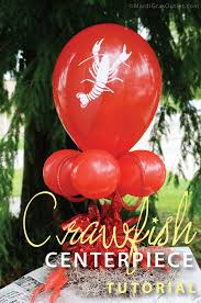 crawfish boil decorations party ideas by mardi gras outlet crawfish balloon centerpiece