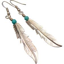 silver feather earrings sterling silver feather earrings from muyifabu on ruby