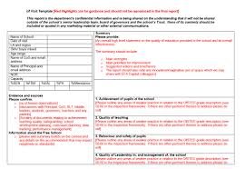 monitoring visit report template what do you notice about this free school monitoring form