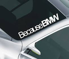 jdm sticker on car because bmw car windscreen sunstrip decal sticker jdm m3 m5