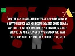 what is light duty work what is a duty of a light job youtube