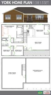 Floor Plans Open Concept by York 3 Bedroom 2 Bathroom Home Plan Features Cathedral Ceiling