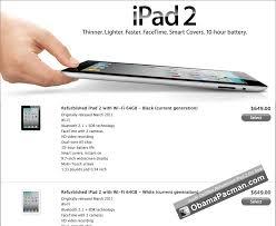 best black friday deals on refurbished apple ipods apple certified refurbished ipad 2 on sale obama pacman