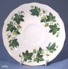 queen anne ivy pattern vintage bone china saucer collectable china