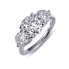 stone wedding rings images R0186clp05 lafonn round three stone engagement ring jpg