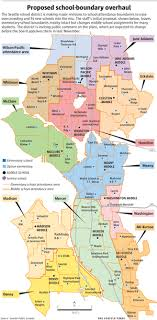 seattle map by district seattle redraws school maps to ease overcrowding the seattle times