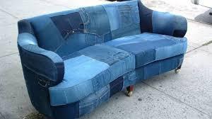 Denim Sofa Slipcovers by Denim Sofa Made In Brooklyn Makes Craigslist Sensation Am New York