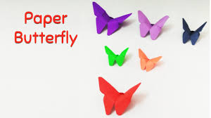 make an easy paper butterflies origami paper butterfly