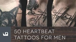 heartbeat stop tattoo 50 heartbeat tattoos for men youtube
