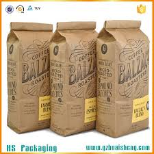 wholesale custom kraft paper bag heat seal for tea coffee