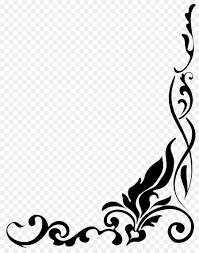 corner pattern png drawing clip art corner border png png download 1024 1280 free