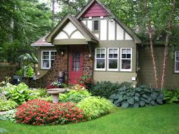 small front yard landscape design with plants and artenzo