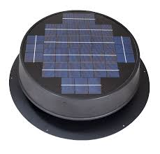 roof mounted solar attic fan for pitched or flat roofs