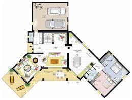 Plan De Maison En Longueur Plan De Maison Plain Pied En Longueur Boisholz