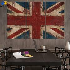 online get cheap union painting aliexpress com alibaba group the union flag in red white and blue 3 pieces painting on canvas wall art picture