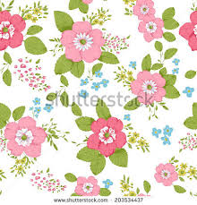 Shabby Chic Rose by Shabby Chic Rose Pattern Seamless Background Stock Vector