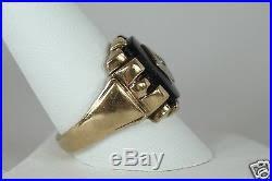 vintage mens ring vintage art deco era 10k yellow gold mens ring