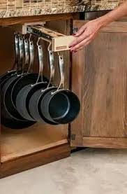 kitchen cabinet pots and pans organization pan storage