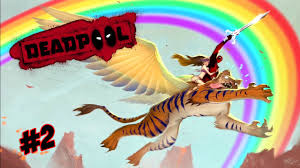 a flying tiger with wings deadpool part 2