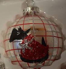 scottie ornaments highlander silver and plaid