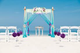 Wedding Arches Beach Colorful Turquoise And Purple Beach Wedding Arbor Beach