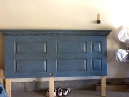 How To Make King Headboard by Turn An 6 Panel Door Into A King Headboard With Chalkpaint Dark