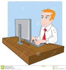 employé de bureau employé de bureau de dessin animé à bureau illustration de