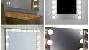 mirror vanity set with lighted mirror cool ideas for bedroom