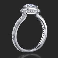 engagement rings affordable affordable halo engagement ring with bezel set and not