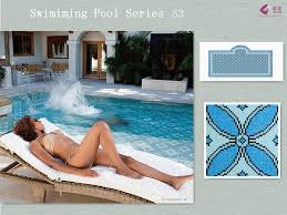 piscine en verre verre bleu clé grecque frontière piscine en verre bleu mosaïque id
