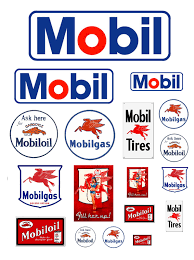 1 25 g scale mobil oil gas station signs scale oil and dioramas