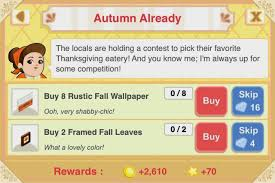 bakery restaurant story bakery story seasonal autumn goals