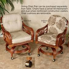 Dining Room Chairs On Casters by Leikela Rattan Tropical Dining Furniture Set