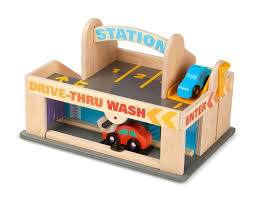 for kids car wash baby melissa u0026 doug service station parking garage with 2 wooden cars