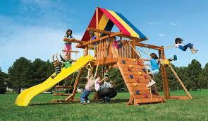 rainbow playsets and swing sets backyard circus play structures