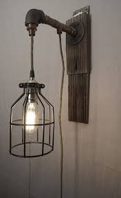 Copper Wall Sconce Lights Upcycled Steampunk Cage Copper Pipe Wall Sconce Light U2014 Rehasht