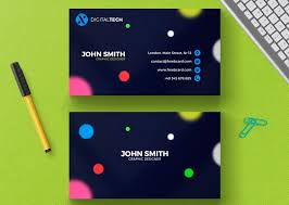 business card template with blurred circles download wp daddy