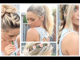 long hair style showing ears heat proof summer hairstyles youtube
