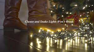 10 foot christmas cluster lights with 300 warm white led garland