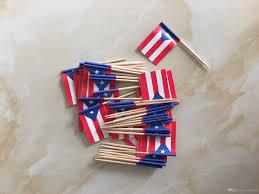 2017 mini puerto rico flag paper food picks dinner cake toothpicks