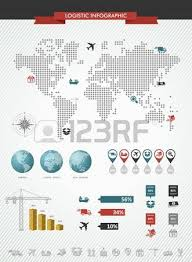 trading pattern shipping global logistics infographic illustration world map with