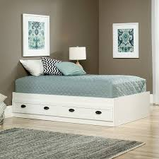 Sauder White Bookcase by Amazon Com Sauder 418535 County Line Platform Bed Twin Soft