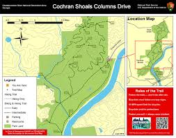 French Creek State Park Map Chattahoochee River National Recreation Area Columns Drive