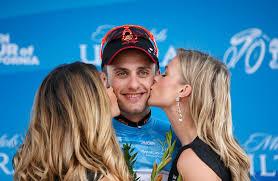tour of california podium girls jacob rathe tour of california stage 1 get kisses from podium