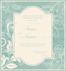 Sample Invitation Card For Event Blue Vintage Wedding Invitation Card Stock Vector Art 540398894